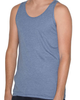 T-Shirts von der Marke American Apparel namens Unisex Tri-Blend Tank in der Farbe Athletic Grey