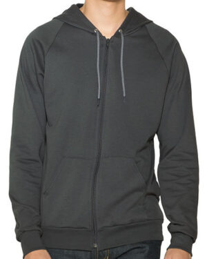 Sweatshirts & -jacken von der Marke American Apparel namens Unisex California Fleece Zip Hooded Sweatshirt in der Farbe Black