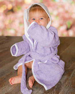 Bademäntel von der Marke A&R namens Babiezz® Bathrobe with Hood in der Farbe Aqua Blue