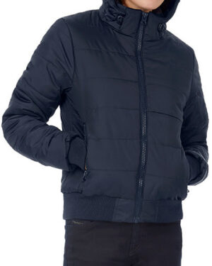 Jacken von der Marke B&C namens Jacket Superhood /Women in der Farbe Black