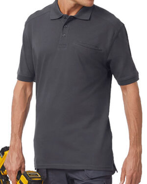 Poloshirts von der Marke B&C Pro Collection namens Skill Pro Polo in der Farbe Black