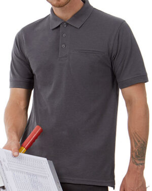 Poloshirts von der Marke B&C Pro Collection namens Energy Pro Polo in der Farbe Black