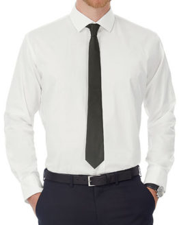 Hemden von der Marke B&C namens Poplin Shirt Black Tie Long Sleeve / Men in der Farbe Black
