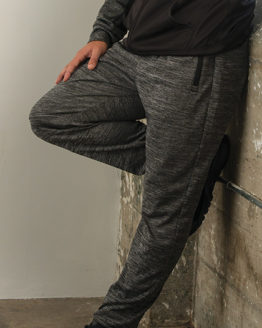 Hosen von der Marke Burnside namens Joggers in der Farbe Heather Charcoal