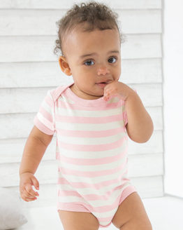 Bodies von der Marke Babybugz namens Baby Stripy Bodysuit in der Farbe Antique Blue