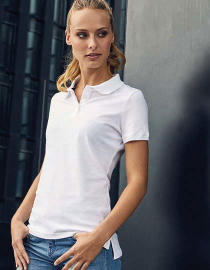 Poloshirts von der Marke Promodoro namens Women`s Single Jersey Polo in der Farbe Black