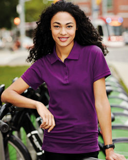 Poloshirts von der Marke Elevate namens Calgary Polo Ladies in der Farbe Anthracite (Solid)