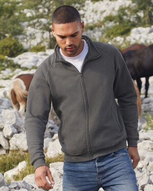 Sweatshirts & -jacken von der Marke Fruit of the Loom namens Classic Sweat Jacket in der Farbe Black