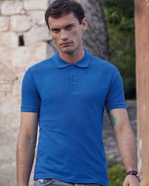 Poloshirts von der Marke Fruit of the Loom namens 65/35 Tailored Fit Polo in der Farbe White