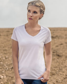 T-Shirts von der Marke HRM namens Women´s Luxury V-Neck Tees in der Farbe Black