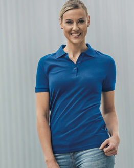 Poloshirts von der Marke HRM namens Women´s Heavy Stretch Polo in der Farbe Black