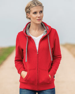 Sweatshirts & -jacken von der Marke HRM namens Women´s Hooded Jacket in der Farbe Black