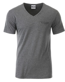 T-Shirts von der Marke James+Nicholson namens Men`s-T Pocket in der Farbe Black