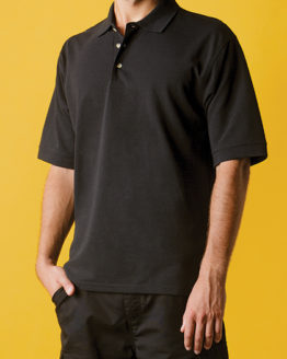 Poloshirts von der Marke Kustom Kit namens Classic Fit Chunky Polo Superwash 60° in der Farbe Black