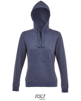 Sweatshirts & -jacken von der Marke SOL´S namens Women´s Hooded Sweatshirt Spencer in der Farbe Heather Charcoal Melange