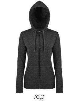Sweatshirts & -jacken von der Marke SOL´S namens Women Hooded Zipped Jacket Seven in der Farbe Black