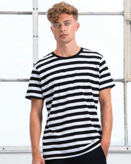 T-Shirts von der Marke Mantis namens Men`s Stripy T in der Farbe Black