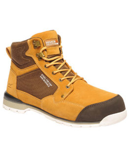 Schuhe von der Marke Regatta Safety Footwear namens Pro Duststorm SBP Safety Boot in der Farbe Tan