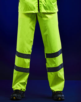 Hosen von der Marke Regatta High Visibility namens Hi-Vis Pro Packaway Trousers in der Farbe Orange