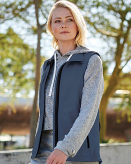 Westen & Bodywarmer von der Marke Regatta Professional namens Women´s Octagon II Printable Softshell Bodywarmer in der Farbe Seal Grey (Solid)