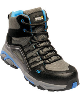 Schuhe von der Marke Regatta Safety Footwear namens Convex S1P Safety Hiker in der Farbe Black