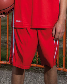 Hosen von der Marke SPIRO namens Basketball Men`s Quick Dry Short in der Farbe Black