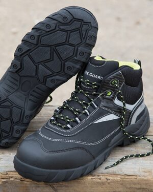 Schuhe von der Marke WORK-GUARD namens Blackwatch Safety Boot in der Farbe Black
