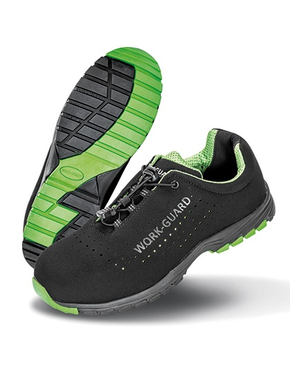 Schuhe von der Marke WORK-GUARD namens Shield Lightweight Safety Trainer in der Farbe Black
