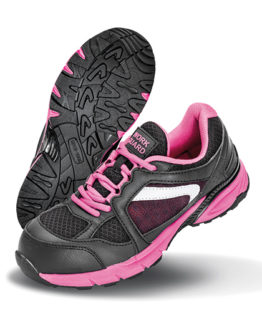 Schuhe von der Marke WORK-GUARD namens Ladies` Safety Trainer in der Farbe Pink
