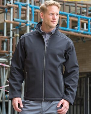 Jacken von der Marke WORK-GUARD namens Men´s Treble Stitch Softshell Jacket in der Farbe Black
