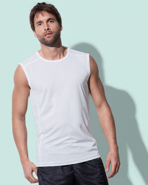 T-Shirts von der Marke Stedman® namens Active 140 Sleeveless in der Farbe Black Opal