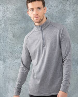 Sweatshirts & -jacken von der Marke Henbury namens ¼ Zip Top with Wicking Finish in der Farbe Black