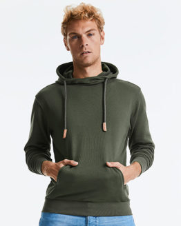 Sweatshirts & -jacken von der Marke Russell Pure Organic namens Pure Organic High Collor Hooded Sweat in der Farbe White