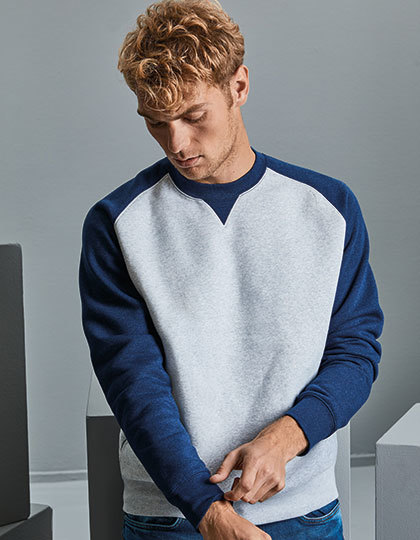 Sweatshirts & -jacken von der Marke Russell namens Authentic Baseball Sweat in der Farbe Light Oxford (Heather)