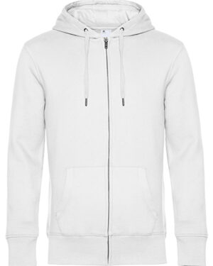 Sweatshirts & -jacken von der Marke B&C namens KING Zipped Hood Jacket in der Farbe White
