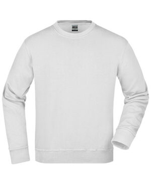 Sweatshirts & -jacken von der Marke James+Nicholson namens Workwear Sweat in der Farbe White