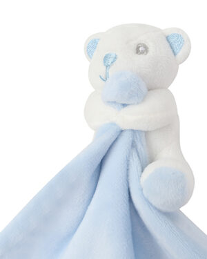 Stofftiere & Figuren von der Marke Mumbles namens Baby Animal Comforter With Rattle in der Farbe Blue Bear